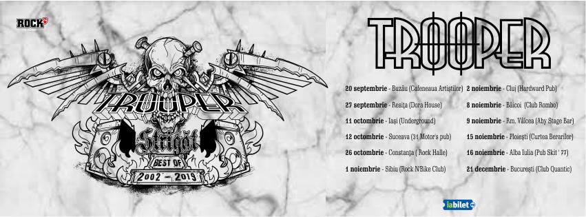 """Turneul Trooper """"Strigăt (Best of 2002-2019)"""" va începe la Buzău"""