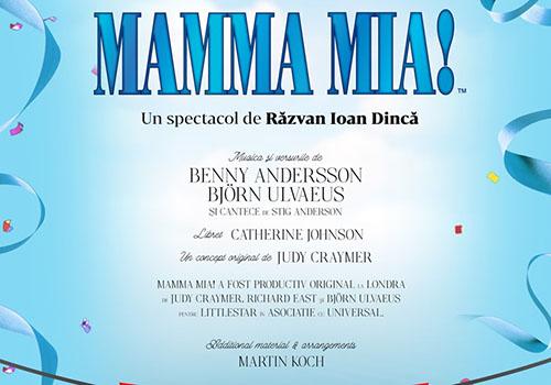 """Două reprezentații """"Mamma Mia!"""" la Sala Palatului"""
