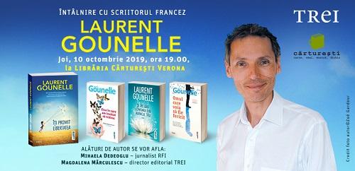 Scriitorul francez Laurent Gounelle se întâlnește cu cititorii români pe 10 octombrie