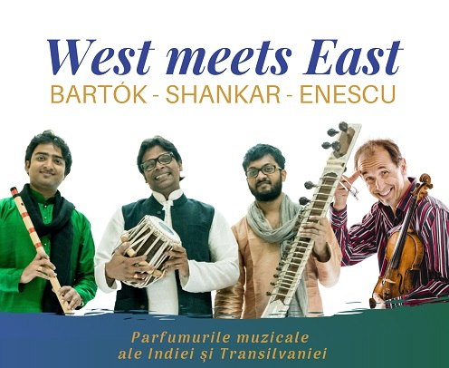 """""""West meets East"""", concerte de muzică indiană și transilvăneană"""