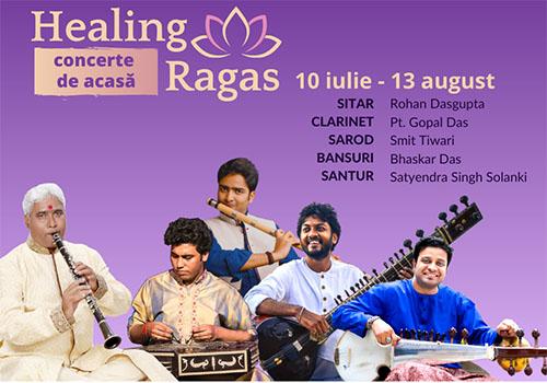 """""""Healing Ragas"""": concerte online de muzică clasică indiană"""