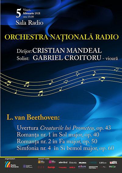 Concert dedicat lui Beethoven, la radio și pe internet