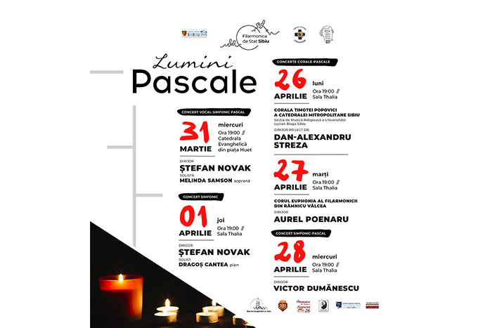 """""""Lumini pascale"""", serie de concerte la Filarmonica Sibiu"""