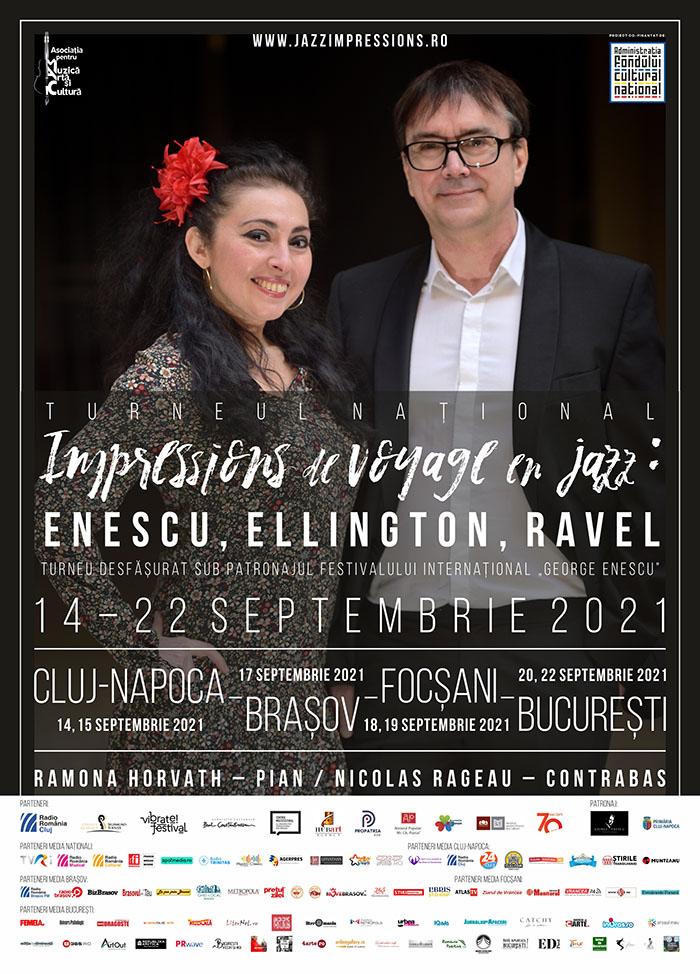 """""""Impressions de voyage en jazz: Enescu, Ellington, Ravel"""" ia startul în 14 septembrie"""