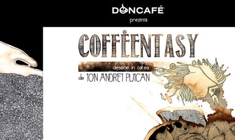 Expozitie aromata: Coffeentasy – desene in cafea