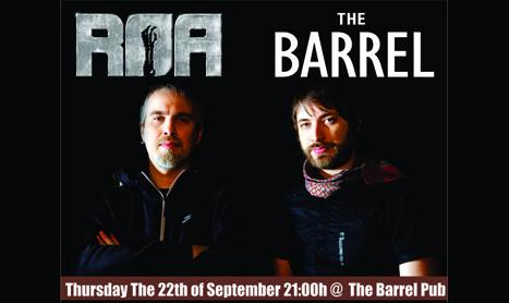 R.O.A. canta in The Barrel Pub pe 22 septembrie