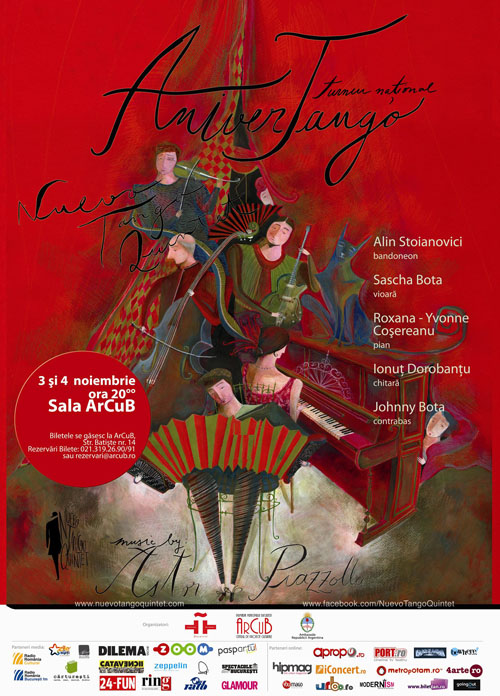 Tangourile lui Piazzolla vor rasuna in Sala ArCuB