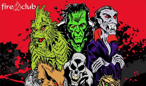 Personaje horror si muzica la Classic Monsters Halloween Night