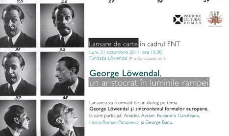 31 octombrie: lansare de album dedicat lui George Löwendal