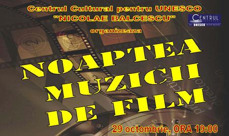 """""""Noaptea Muzicii de Film"""" revine cu editia a doua pe 29 octombrie"""
