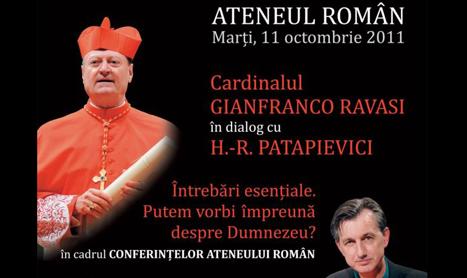 Horia-Roman Patapievici intra in dialog cu Cardinalul Gianfranco Ravasi