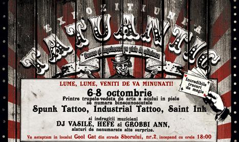 "Expozitia ""Tatuantic"" va asteapta la Cool Cat din 6 octombrie"
