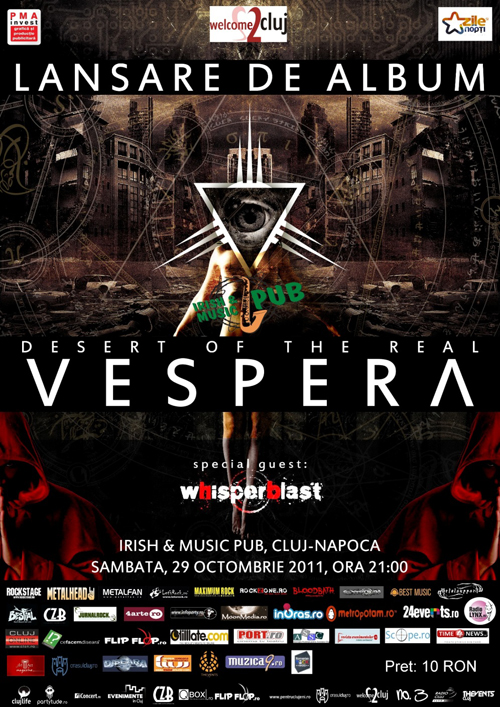 Vespera isi lanseaza primul album pe 29 octombrie