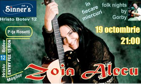 Concert Zoia Alecu in Sinner's Club