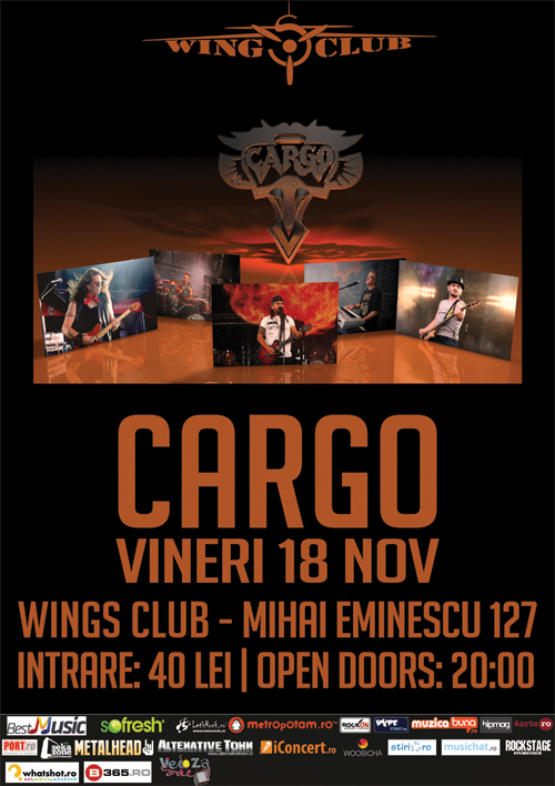 Cargo canta in Wings pe 18 noiembrie