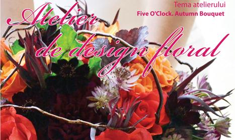 """Atelier de design floral nr. 29: """"Five O'Clock. Autumn Bouquet"""""""