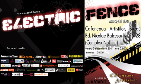 Electric Fence canta in Buzau pe 2 decembrie