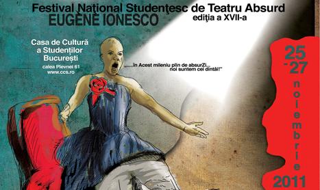 """25-27 noiembrie: Festivalul Studentesc de Teatru Absurd """"Eugène Ionesco"""""""