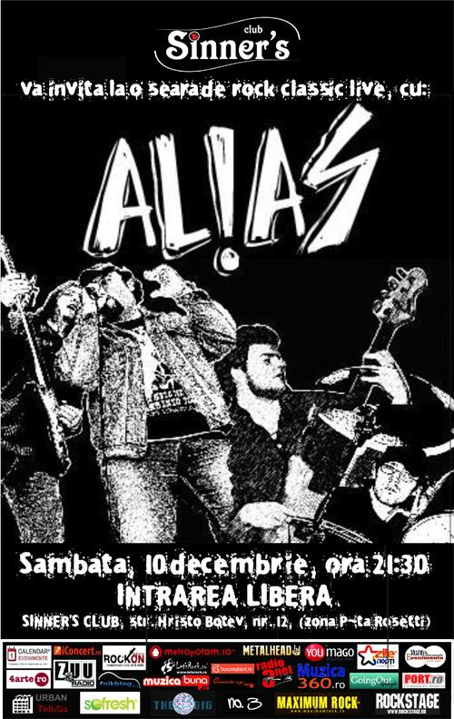 10 decembrie: seara de rock clasic cu AL!AS