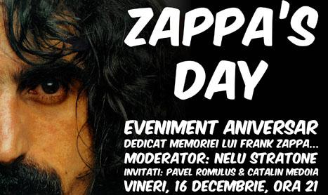 Clubul Zappa Rock & More va asteapta la Zappa's Day