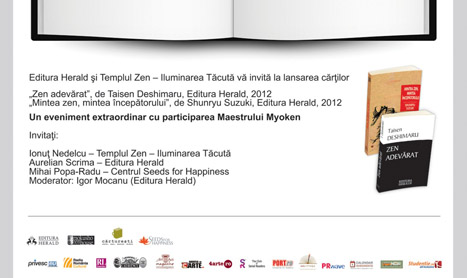 Editura Herald lanseaza doua carti despre Zen