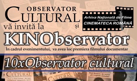 """Premiera la Union: """"10 x Observator cultural"""""""