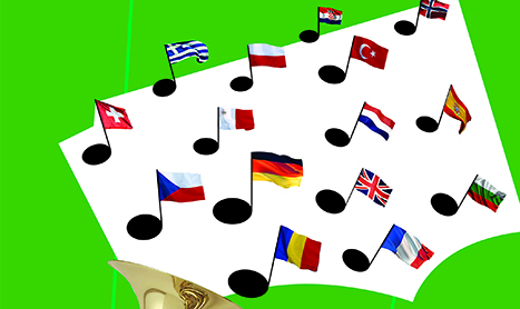 Fanfara canta de Ziua Europei