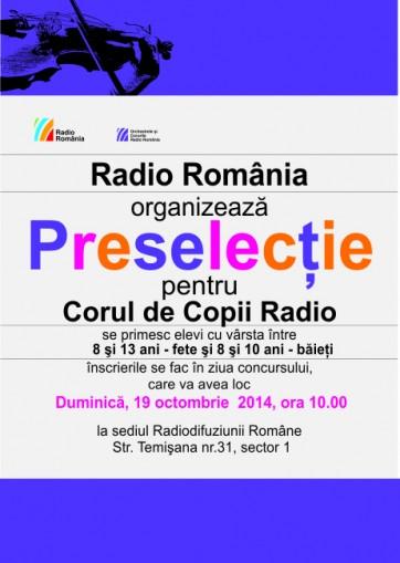 PRESELECTIE PENTRU CORUL DE COPII RADIO