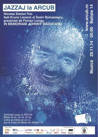 """Un nou concert JAZZAJ la ARCUB, """"In Memoriam Johnny Raducanu"""""""