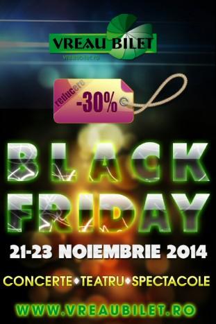 """Oferte """"Black Friday"""" pe VreauBilet.ro"""