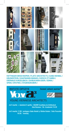 """Expozitie """"Young Viennese Architects YO.V.A 3"""""""