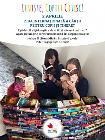 """Liniste, copiii citesc!"", o campanie LITERA de Ziua Internationala a Cartii pentru Copii si Tineret"