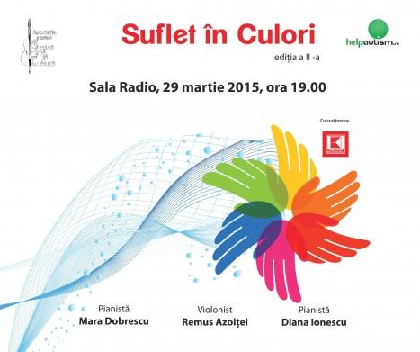 SUFLET IN CULORI – Concert caritabil in beneficiul copiilor cu autism