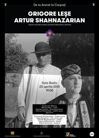 """""""DE LA ARARAT LA CARPATI"""" – Grigore Lese si Artur Sahnazarian la Sala Radio"""