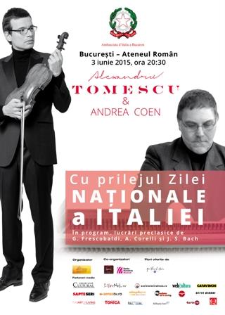 Concert Alexandru Tomescu si Andrea Coen de Ziua Italiei