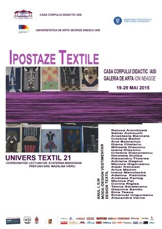 UNIVERS TEXTIL, expozitie de arta textila