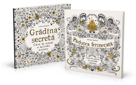 """Litera lanseaza cartile de colorat pentru adulti """"Gradina secreta"""" si """"Padurea fermecata"""""""
