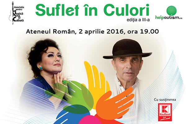 "Leontina Vaduva si Grigore Lese canta pentru ""Suflet in culori"""