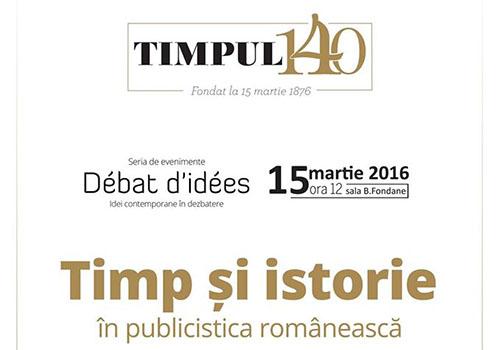 """Revista """"Timpul"""" sarbatoreste 140 de ani de existenta"""