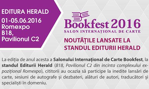 Ce lanseaza Editura Herald la Bookfest