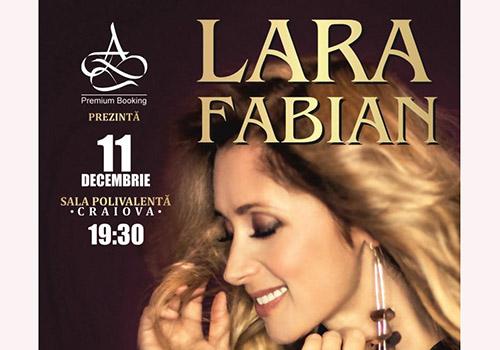 Lara Fabian ajunge in decembrie la Craiova