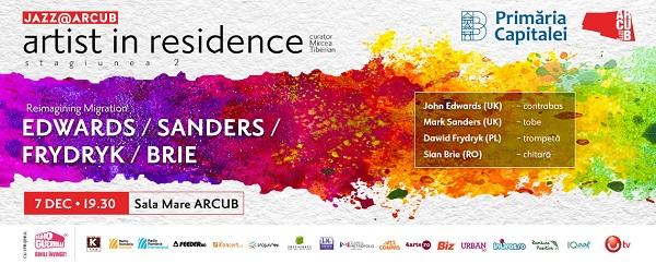 O noua editie Jazz @ ARCUB – Artist in Residence pe 7 decembrie