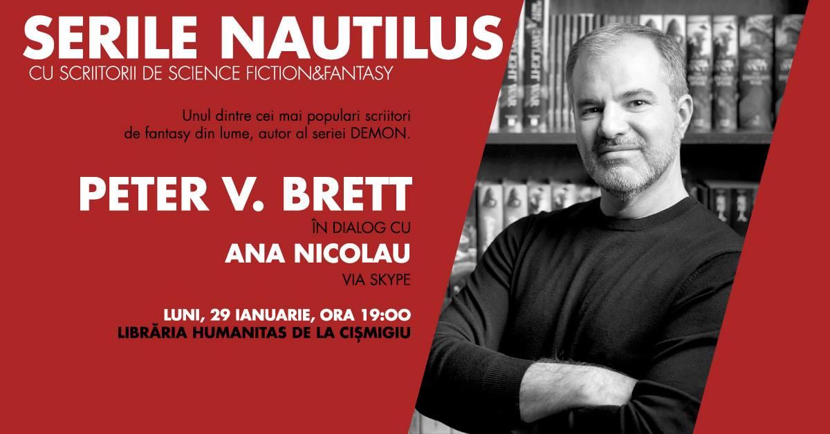 Peter V. Brett vine pe Skype la Serile Nautilus