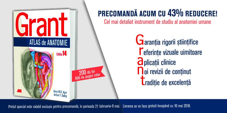 """GRANT. ATLAS DE ANATOMIE"" – reducere de 43%"