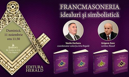 Eveniment literar: Francmasoneria – idealuri şi simbolistică