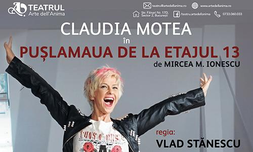 """""""Pușlamaua de la etajul 13"""" se joacă pe 13 noiembrie"""