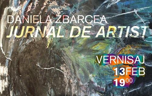 """Expoziția """"Jurnal de artist""""/Daniela Zbarcea se deschide pe 13 februarie"""