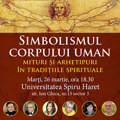 """Eveniment Herald: """"Simbolismul corpului uman – mituri și arhetipuri în tradițiile spirituale ale lumii"""""""