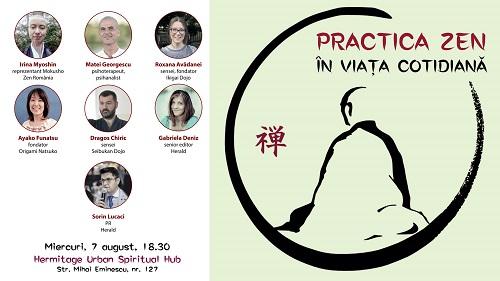 """Eveniment Herald: """"Practica Zen în viața cotidiană"""""""