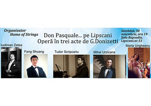 """Opera """"Don Pasquale"""" se joacă la sala Rapsodia pe 30 noiembrie"""